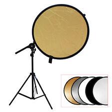 Studio Photo Kit Reflector Bracket Arm + Light Stand +5in1 108cm Reflector Disc