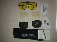 Beretta shooting glasses system with case, cloth,tool and 3sets of lenses