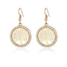 Drop / Dangle Hook Earrings Jewelry Fashion Gold Filled Round Lucky Tree Long