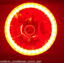 RED Halo H4 Headlight x 2 Angel Eye Ford Mustang 1965 1966 1967 1968 GT Eleanor