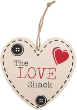 Wooden Hearts & Love Decorative Plaques & Signs
