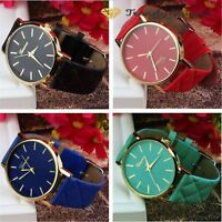 Women's Geneva Roman Watch Lady Leather Band Analog Quartz Wrist Watch