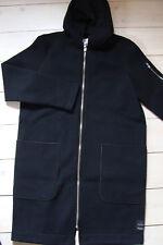 MARC O POLO Sweat Mantel NEU M 179 € Logo offene Säume Jacke blau MOP Jersey