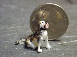 Dollhouse Miniature Sitting Big Dog Animal D22 1:48 Quarter Scale Dollys Gallery