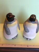 Franklin Mint 1987 Noahs Ark Theme Pair Of Penguin Salt & Pepper Shakers A2