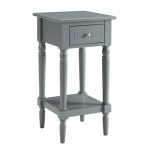 Convenience Concepts French Country Khloe Accent Table, Gray - 6052201GY