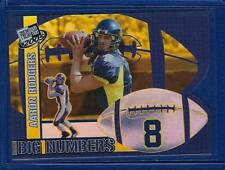 Aaron Rodgers 2005 Press Pass Rookie BIG Numbers Refractor Packers CheckList