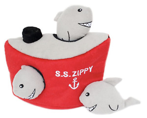 ZippyPaws S.S. Zippy Interactive Hide & Seek Plush Puzzle Squeaker Dog Toy Set