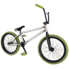 "SALE Teme BMX 20"" Complete Bike - Raw / Green Flybikes Ilegal BSD RRP £800+"
