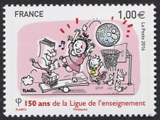 2016 FRANCE N°5072** 150 ans de la ligue de l'enseignement, France stamp MNH
