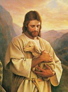 JESUS GOD CHRIST POSTER WALL ART - CHOOSE SIZE - FRAMED OPTION a