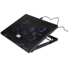 "12-19"" 5 Fans USB Adjustable Switch LED Laptop Notebook Cooling Cooler Stand Pad"