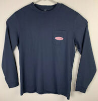 Vineyard Vines Long Sleeve Pocket Tee Surf Logo Navy Mens M Medium NWT