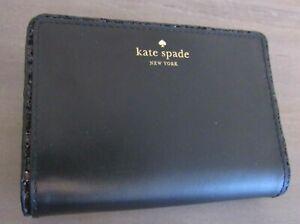 Kate Spade Tellie Seton Drive City Scape Black Glitter Edge Wallet - Brand New