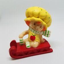 Vintage Strawberry Shortcake Mini Apple Dumplin on Sled PVC Figure 1982