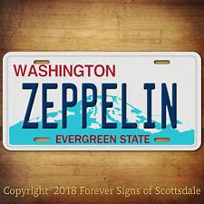 Led Zeppelin Rock And Roll Band Oklahoma State Vanity Aluminum License Plate Tag