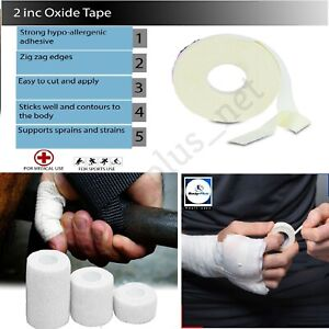 ZINC OXIDE TAPE SPORTS STRAPPING WHITE ROLL MEDICAL ADHESIVE SPORT CLINICAL AID