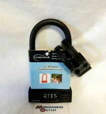 Lumintrail LK20708 Combination 14mm Bicycle U-Lock with Mounting Bracket
