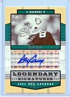 2004 Upper Deck NFL Legends Ray Guy Legendary Signatures Autograph Raiders