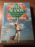 Stolen Season: A Journey Through America and Baseball's Minor Leagues - GOOD