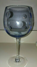 Marquis Waterford Polka Dot Balloon Wine Glass Signed BLUE