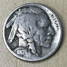 1917-D Buffalo Nickel 5c - Better Than Very Good+++ - VG+++