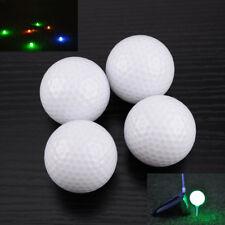 4Pcs Light-up Flashing Glowing Golf Ball Electronic LED Night Golfing Tracker