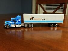Vintage 1981 Yatming Road Champs tractor trailer semi rig toy