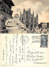 Milano Piazza del Duomo TIMBRO MOSTRA CARAVAGGIO anno 1951 (R-L 182)