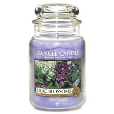 Yankee Candle Lilac Blossoms Large Jar 22oz Floral Scented Candle Parafin Wax