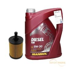 5 Liter Mannol Motoröl Öl Diesel TDI SAE 5W30 + Ölfilter Audi Seat Skoda VW