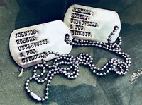 Custom Made Vietnam Dog Tag Set - Hand Aged - US Army Format - Wartime Machine