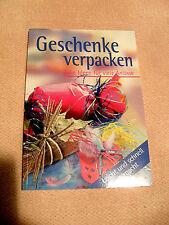 """Buch """"Geschenke verpacken/Tolle Ideen für viele Anlässe"""" vom Naumann & Goebel V."""