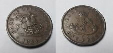 1854 Canada Bank of Upper Canada Large Penny Token