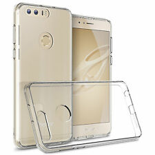Screen Protect Slim Clear Soft Silicone Gel TPU Case Cover For Huawei Honor 8
