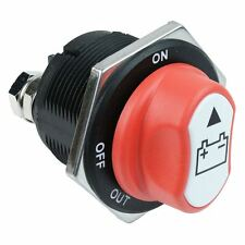 Red Off-On Automotive Battery Switch SPST 200A 32V DC SCI A23-8B