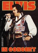 SUPERBE LIVRE ELVIS PRESLEY- ELVIS IN CONCERT- TRES NOMBREUSES PHOTOS ! USA 1979