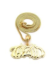 Box Chain 14K Gold plated New Hatchetman Twiztid Pendant 2mm 24""