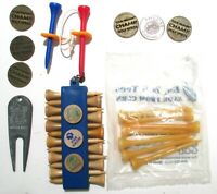 Misc Golf Items:Eco Golf Tees Divot Tool Tee Holder W/Tees Metal Ball Markers