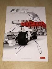 Formel 1 RaceCard Programm 2008 Silverstone SIGNED Webber,Räikkönen,Hamilton....