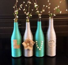 6 EMPTY 1.5 LITER CLEAR GLASS WINE BOTTLES - BOTTLE YOUR OWN OR USE FOR CRAFTS!