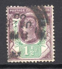 GB = QV 1887 1-1/2 D Jubilee TIMBRE, SG198. Utilisé. (02.18.40)