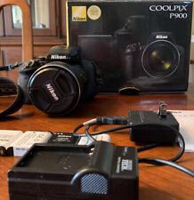 Nikon COOLPIX P900 16MP Digital Camera - Black Original Battery, +3 + Charger