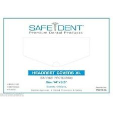 """PLASTIC HEAD REST COVER XL - 14"""" X 9.5"""" – FOR DENTAL CHAIRS"""