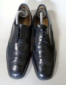 Barker Brogue Black Leather Shoes Size UK 8.5 Fit E