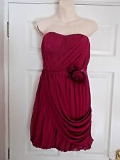 **NEXT STRAPLESS PARTY/EVENING DRESS WITH CORSAGE SIZE 10 IN GREAT COND**