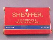 Sheaffer Slim Ink Cartridge---Fits Slim Targa fountain pen--box of 5--blue-black