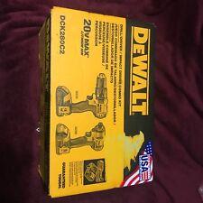 DEWALT DCK280C2 20V Cordless Drill and Impact Driver Combo Kit