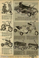 1970 PAPER AD Pedal GT Roadster Honda Scrambler Motor Scooter Ride On Train Dune