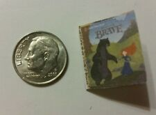 Miniature dollhouse Disney Princess book Barbie 1/12 Scale Brave Merida